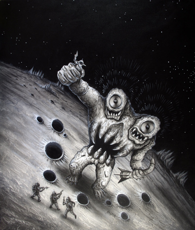 「双音怪獣ステレゴン」の絵